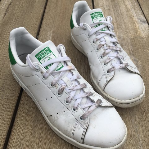 Adidas Stan Smiths Trainers Core White Green ❇ Any or - Depop 4fe038997