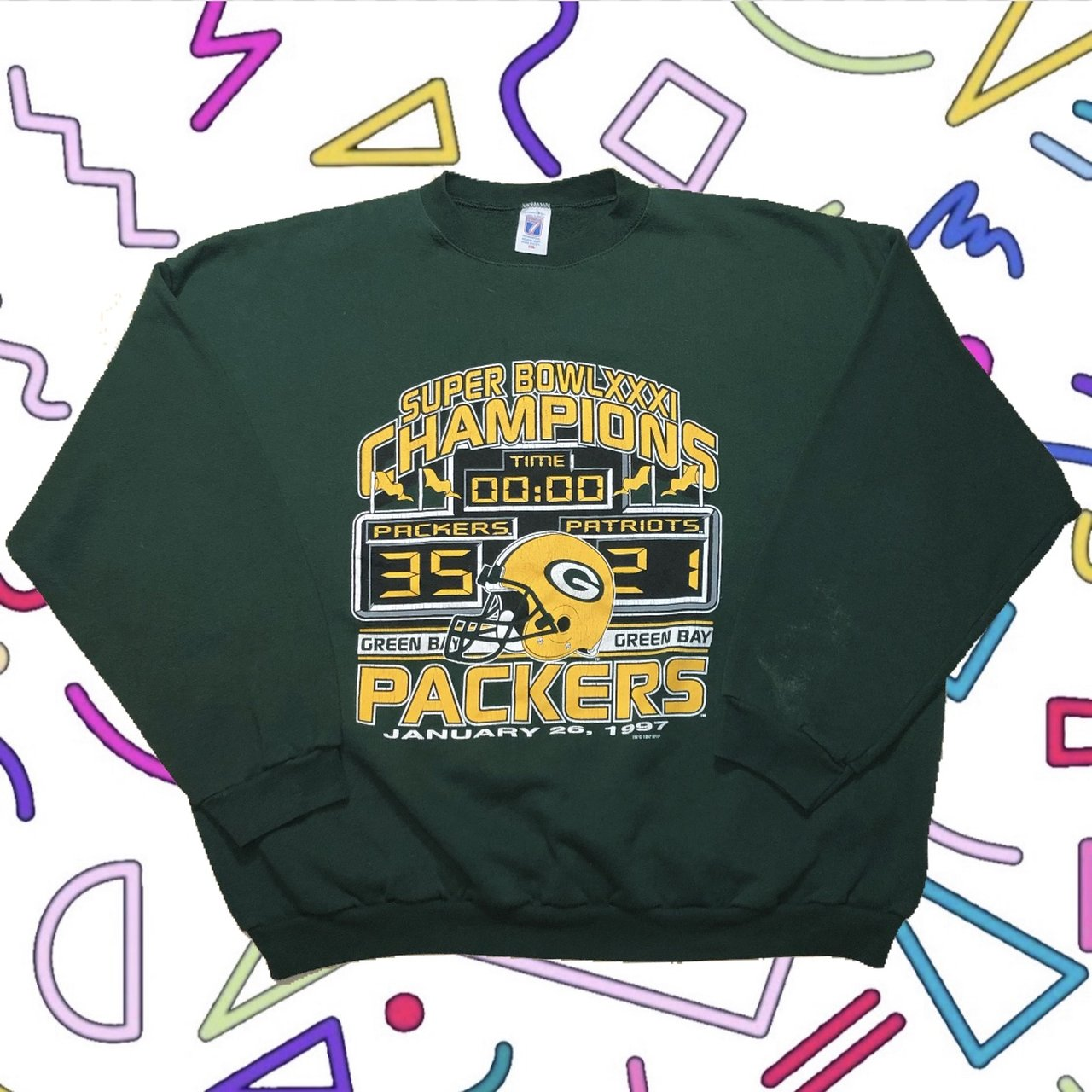 e222c51e2 🔔 Vintage 1997 Super Bowl XXXI Green Bay Packers   New From - Depop