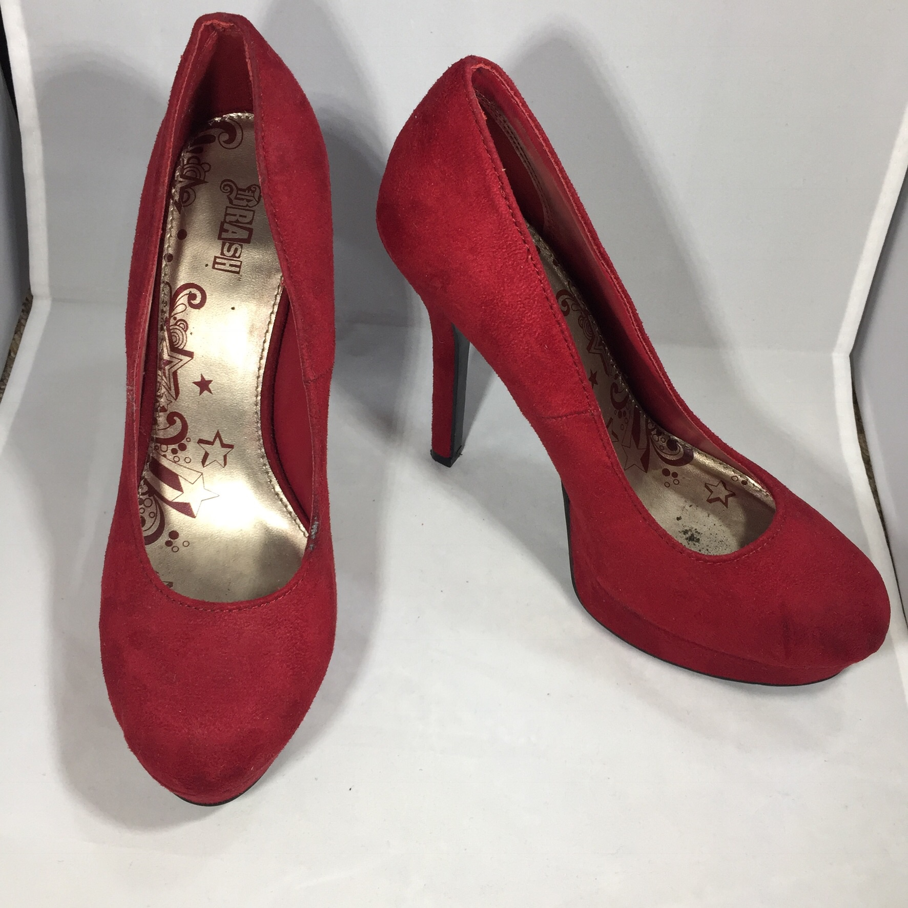 4704c7faafa Brash Payless Women's red pumps heels size 8.5 Worn... - Depop