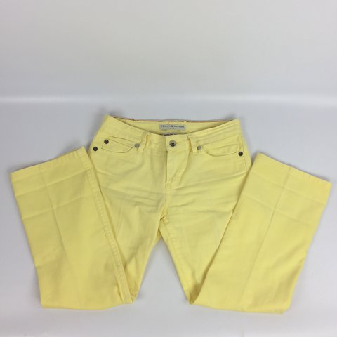 f5ff9206 @dthand. last year. Gainesville, United States. Tommy Hilfiger Yellow Denim  Jeans | Hipster Boot ...