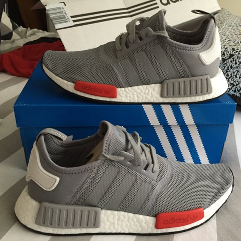 7f8d773d1 ADIDAS NMD RUNNER GREY SIZE 9. Brand New with Tags and and - Depop