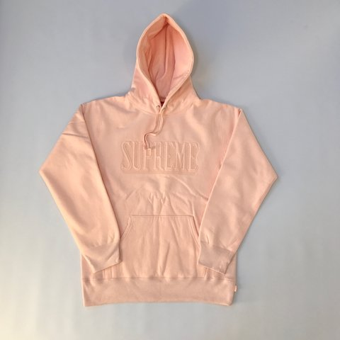 f869bd0c6d92 Peach Supreme Embroidered Outline Logo Hoodie 🍑🍑 PEACH