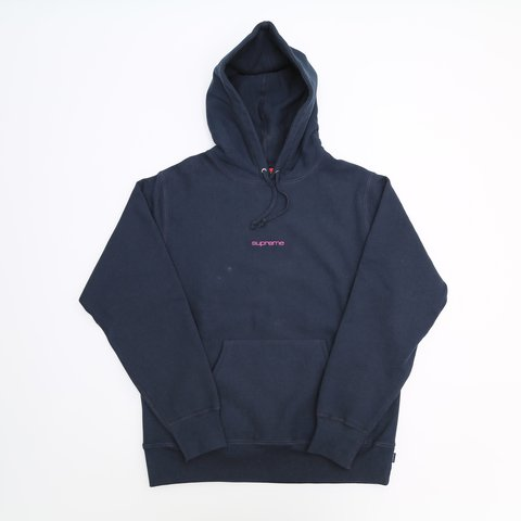 9335634d9c16 Supreme Compact Logo Hoodie Navy - Large - Never Worn - a or - Depop