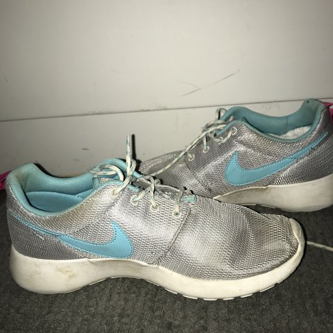 7a60f4a46fc Nike roshe - blue and silver - worn a few times - need a - Depop