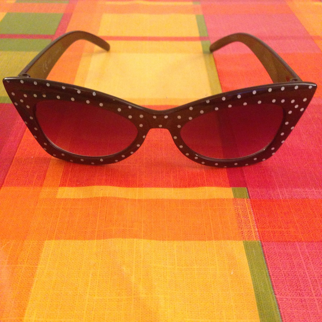 9fb494f1a1 Black and white polka dot sunglasses. 50s style. Excellent - Depop
