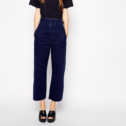 e674a1ceefa970 @saratorode. 3 years ago. Sheffield, South Yorkshire, UK. ASOS high waist  wide leg jeans in WASHED BLACK ...