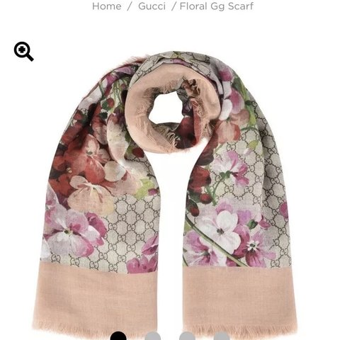 d3b30f6c30c Gucci Floral GG Scarf - bought for £300 from Gucci Worn a of - Depop