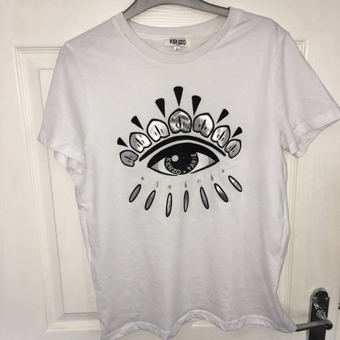 a3ca0f7262d PRICE LOWERED* Kenzo eye icon T-shirt for sale. White and a - Depop