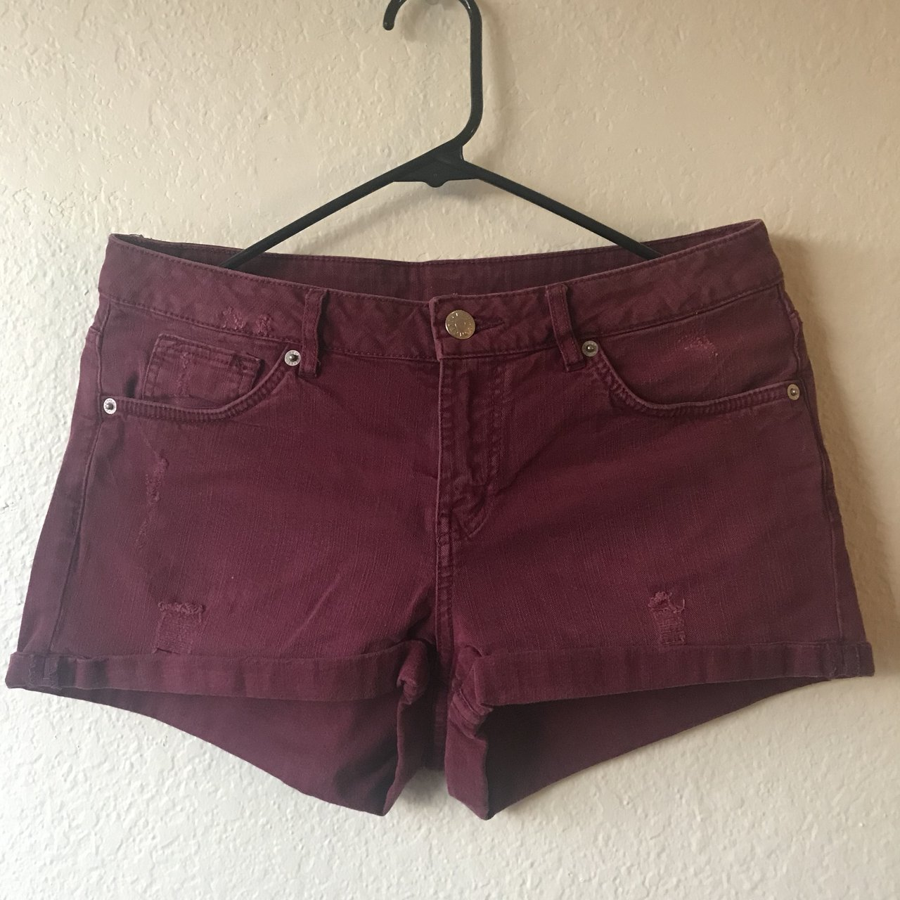 d09d3c0f1 @daycasa. 26 days ago. San Diego, United States. Burgundy denim shorts from  h&m ...