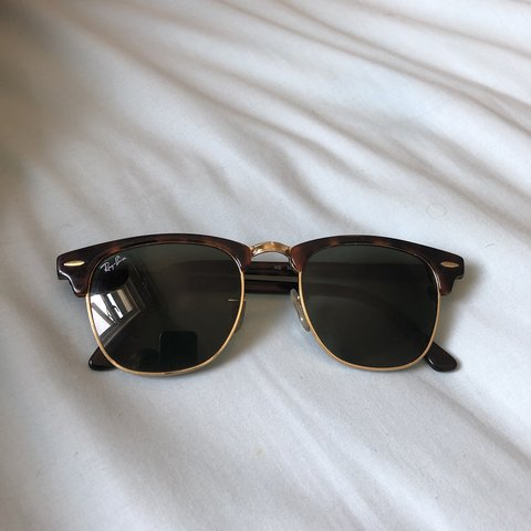 4a05b191db8 Ray Ban clubmaster tortoise-shell sun glasses Used for a - Depop