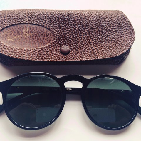 3e08dd4753b Ray Ban Gatsby Style 1 W0930 vintage sunglasses with leather - Depop