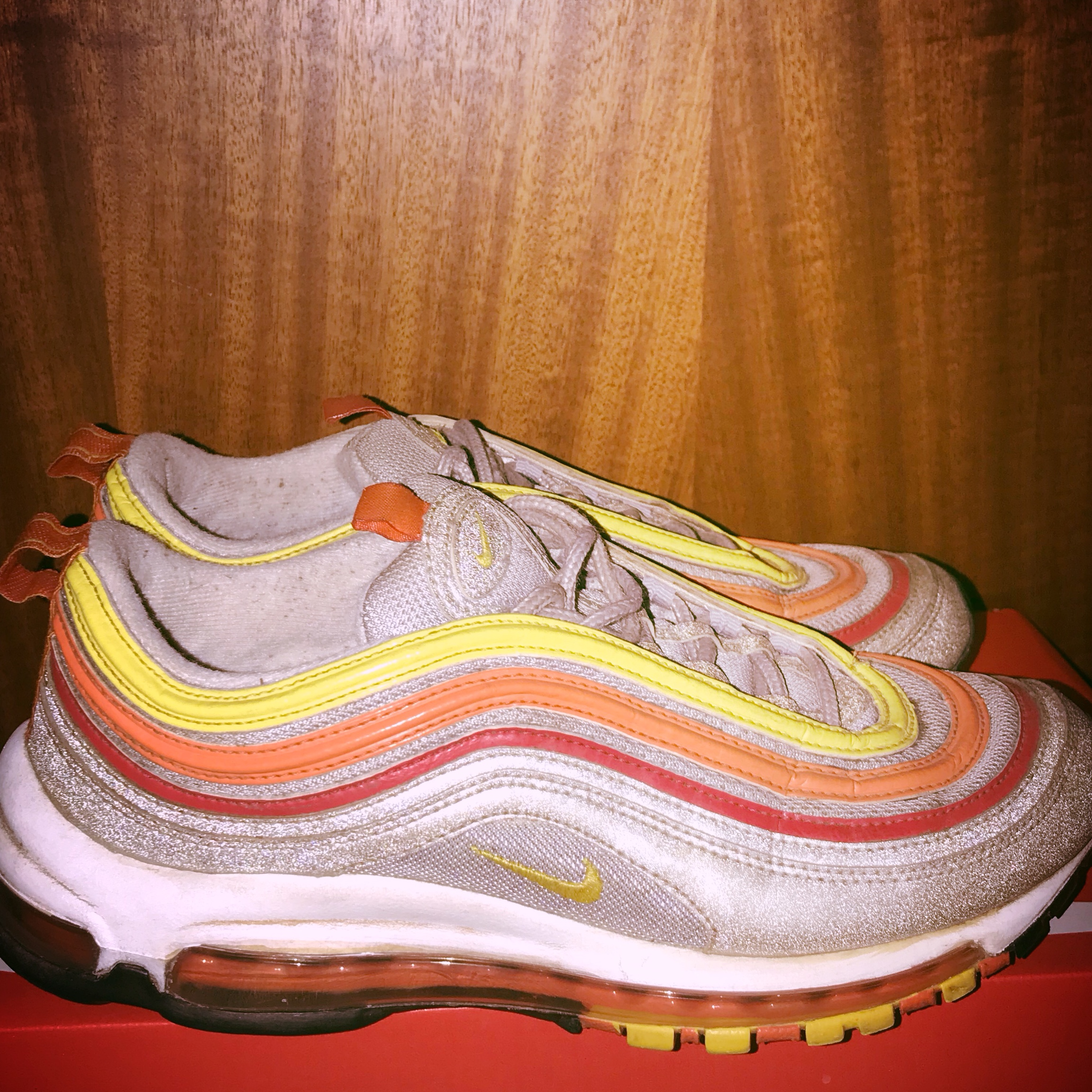 nike air max 97 yellow orange red