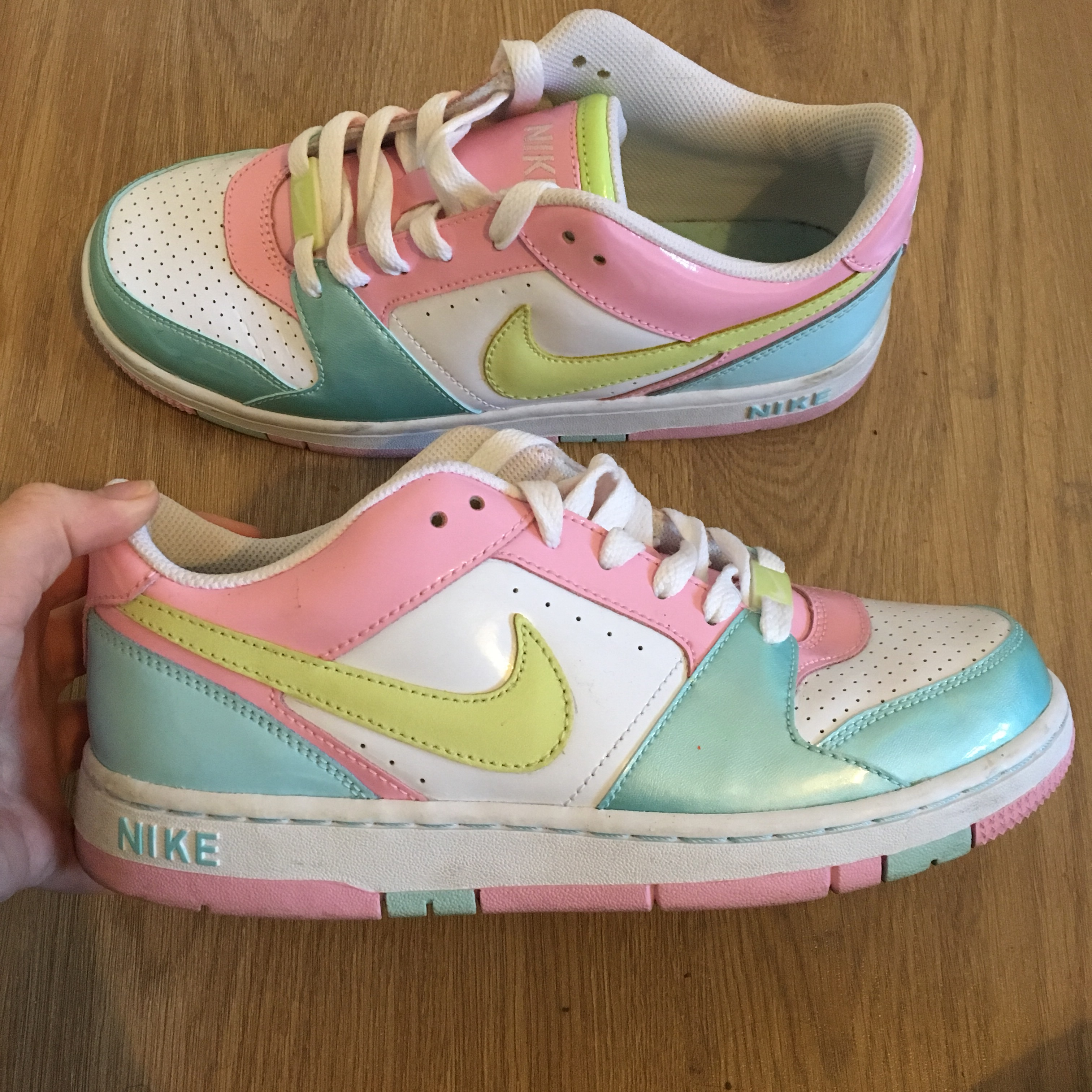 check-out 975a4 a8b81 Pastel Nike Air Force 1 // UK 5 // pastel colours (... - Depop