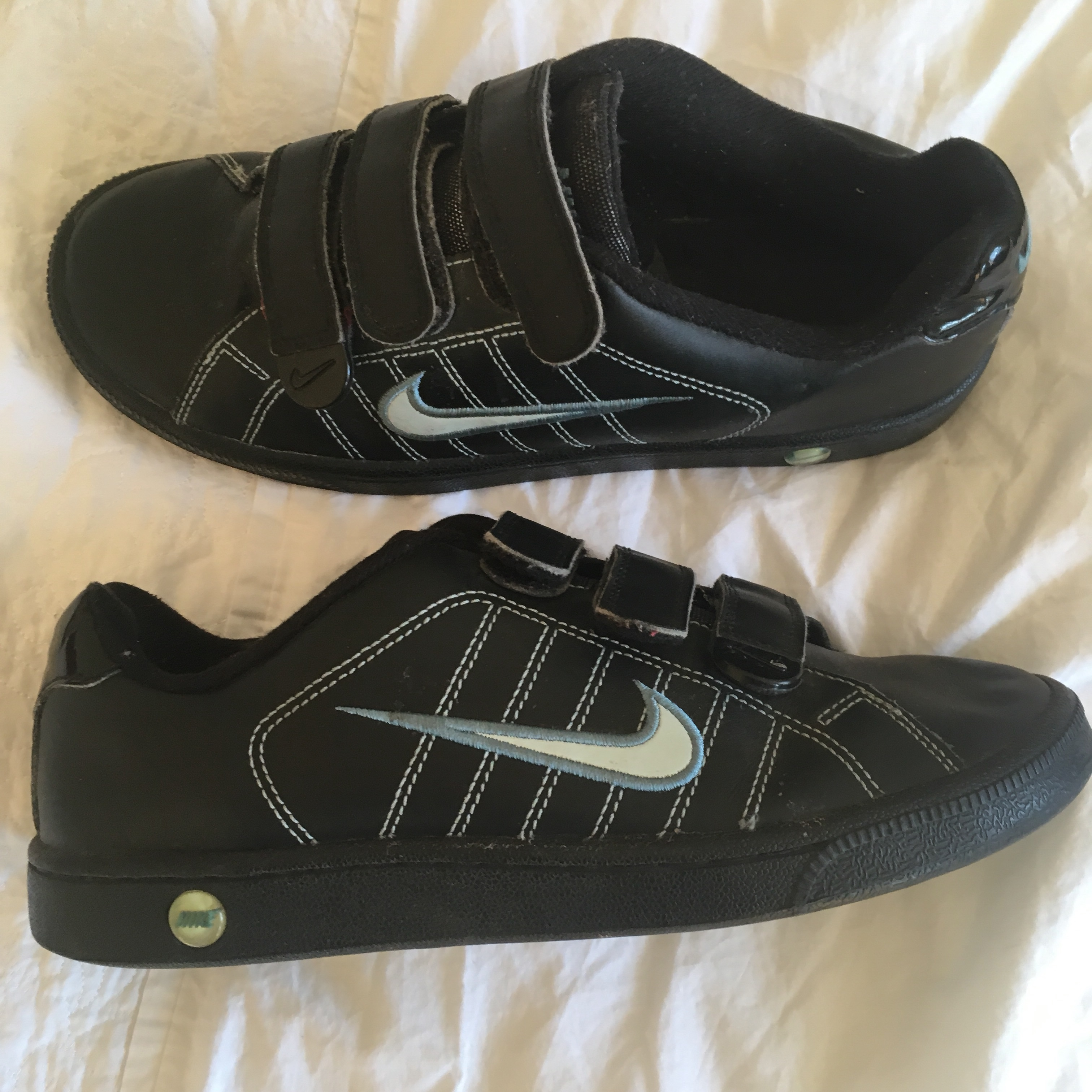 Black Nike Trainers with Velcro straps