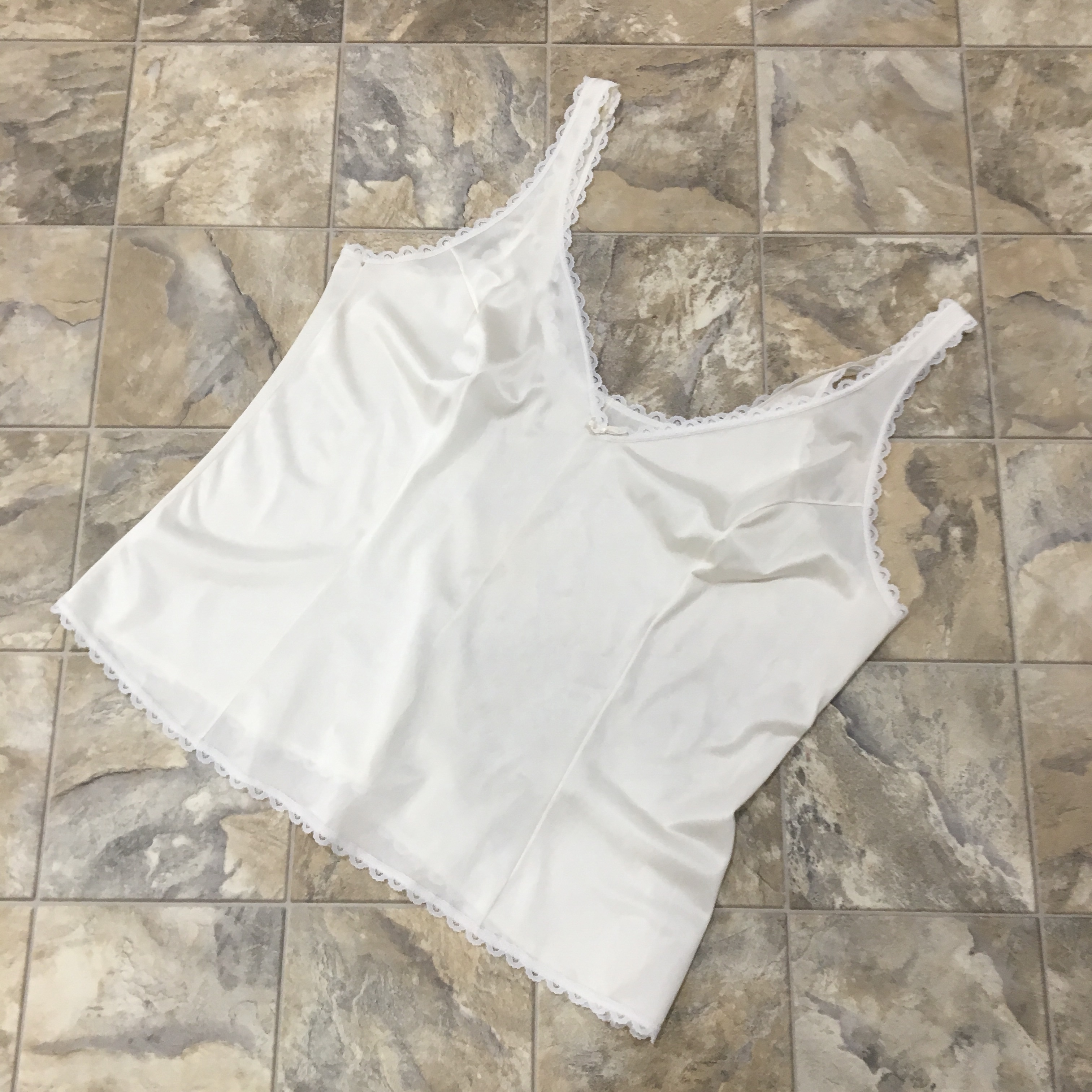 Vintage Off White Cami / Camisole / Lingerie | Lace by Depop
