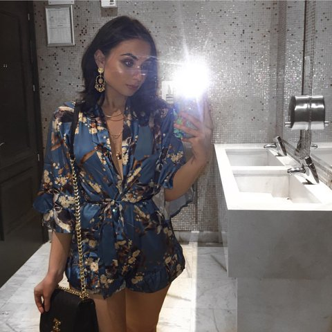 405072bcd4 Selling this gorgeous  missguided satin kimono playsuit - 4 - Depop