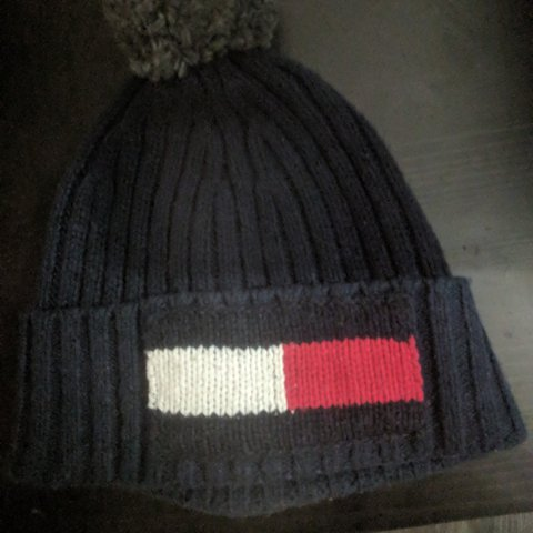b1e2bd2304084e Tommy Hilfiger wooly winter hat Used the hat a few times - Depop