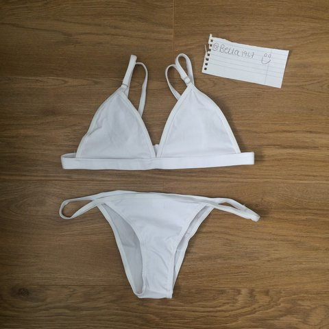 71cffac3719 Beautiful brand new white bikini for sale I have sizes 6- no - Depop