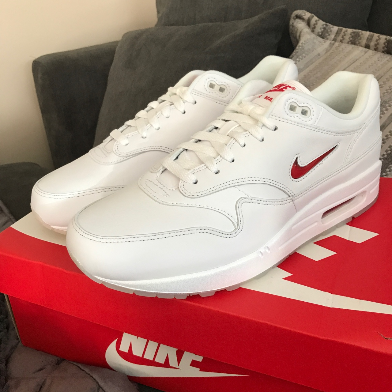 NIKE AIR MAX 1 OG RUBY RED JEWEL SIZE 9 BOXED WITH Depop