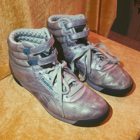 055b173779917e RARE Reebok Freestyle Metallic Sheen. Bring out your cyber a - Depop