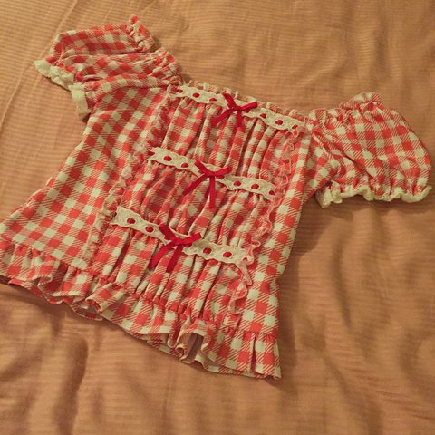 17ea9e536f39 Hold Liz Lisa red gingham top from their super popular and I - Depop