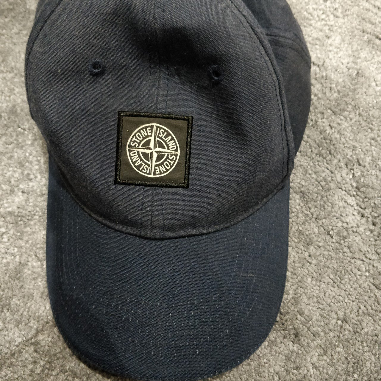 Stone Island navy blue cap. Size L. Years old but still new - Depop f5d244796390