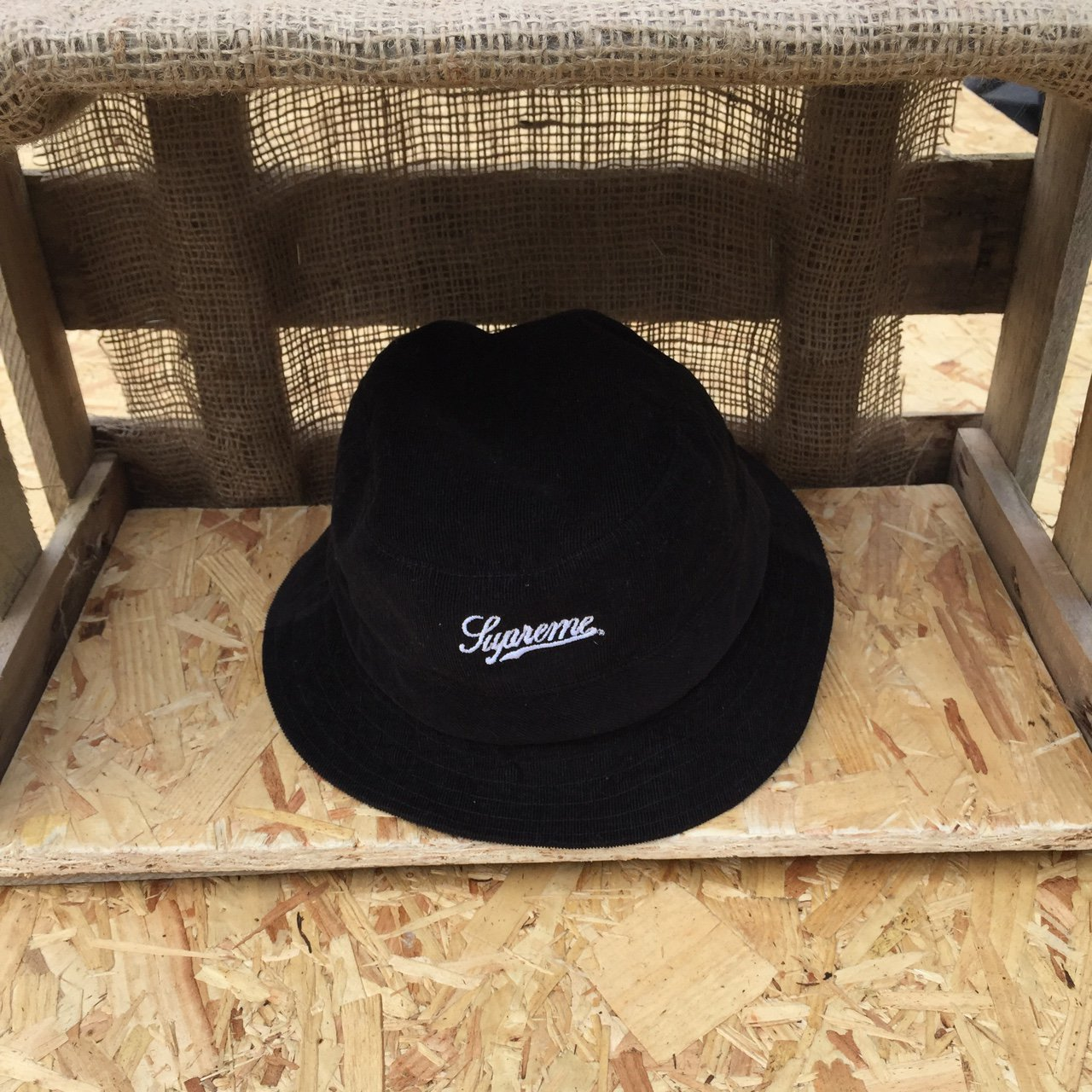 Supreme corduroy bucket hat M L worn handful of times had - Depop 820e97e480d