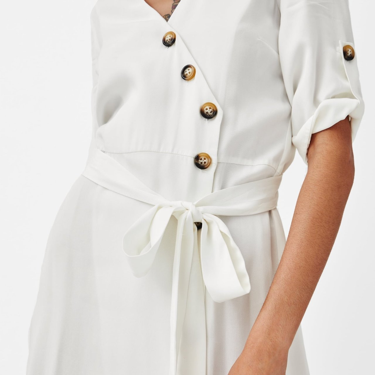 Zara New Collection White Button Down Dress New With Depop