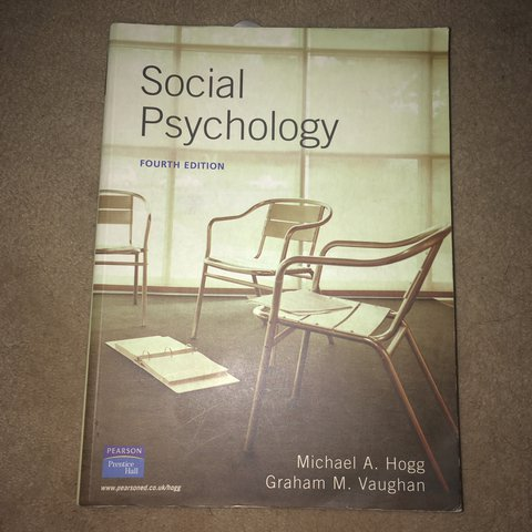 Social psychology textbook ideal for undergraduate social science social psychology textbook ideal for undergraduate social science or psychology student 4th edition by hogg and vaughan 8 w free postage fandeluxe Image collections