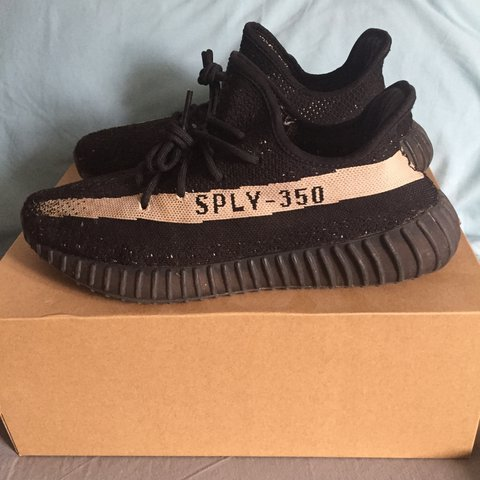 29c8de3f9b5dc Adidas Yeezy Boost 350  oreo . Heavily worn. All marks are - Depop