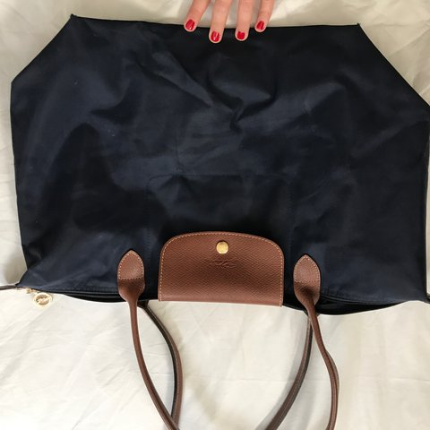 (Sorry the pics are upside down 🙈) Longchamp le pliage in - Depop 167f7524496cf