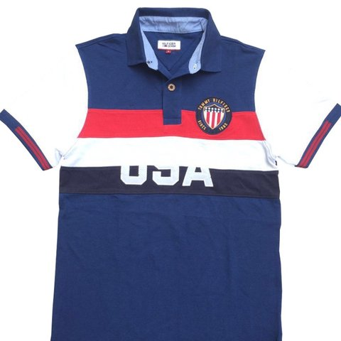 f7c64cb8 @jgraney. 11 months ago. Coventry, United Kingdom. Men's Tommy Hilfiger USA polo  shirt ...