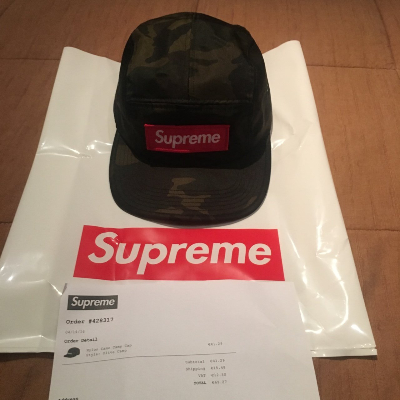 bf1c64cd @crystalballl. 3 years ago. Rome, Italy. WTS/WTT Supreme nylon olive camo camp  cap. Brand new. One size.