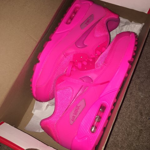 4f2e989351 @dmoney95. 3 years ago. Southington, CT, USA. Nike Air Max 90 2007 hyper  pink vivid pink youth size 7y equivalent to a women's 8.5 brand new with box