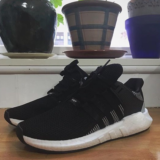 4615294d0 Adidas EQT boost black and white size 10