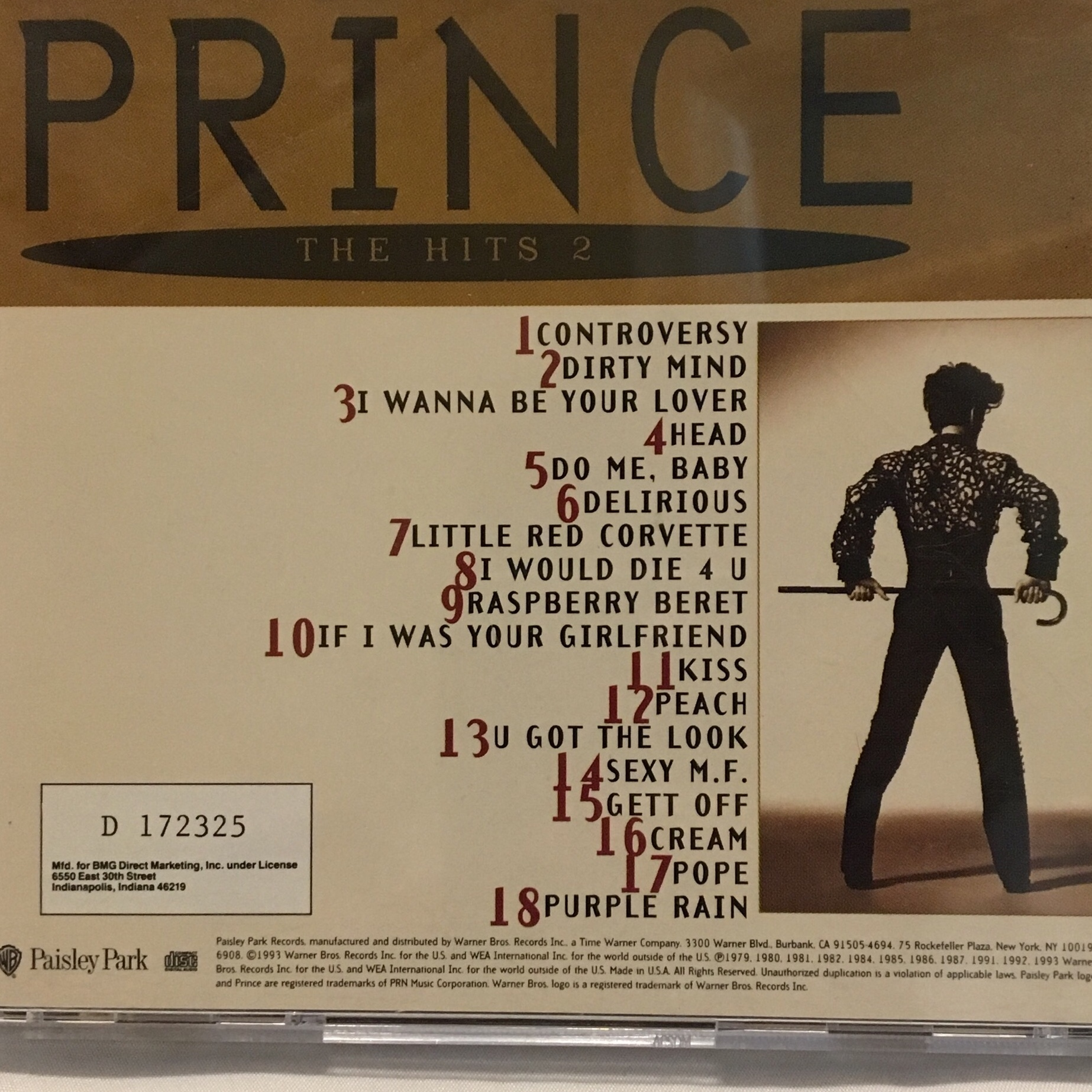 PRINCE | THE HITS 2 - case slightly broken *THIS IS    - Depop