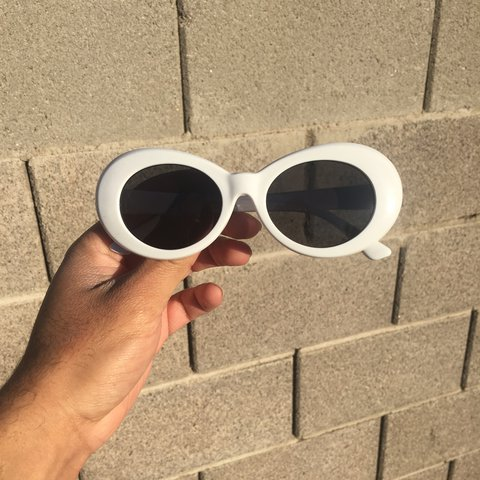 dc0ee7a4c2 White clout goggles! Kurt cobain sunglasses in brand new One - Depop