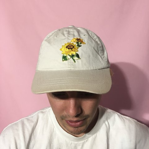 Off white sunflower dad hat🌻such a beautiful contrast it is - Depop 391ddaec4a4