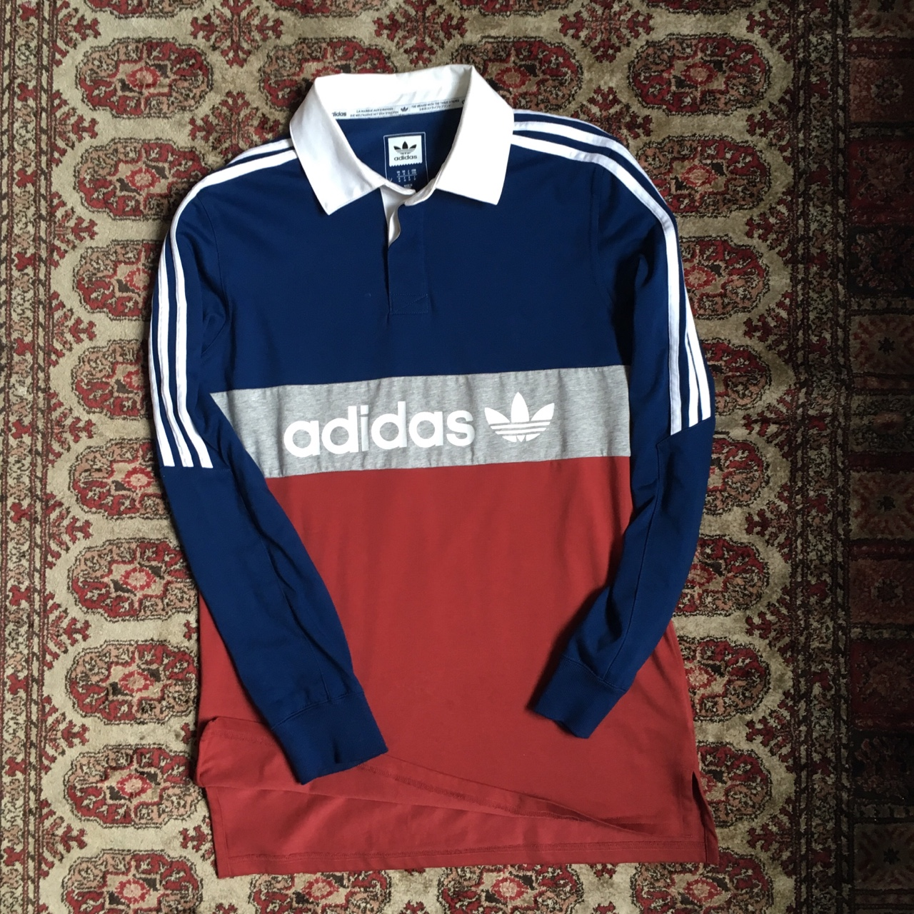 Depop Style Adidas Long Sleeve Rugby Nautical Originals QrdCoWBEex