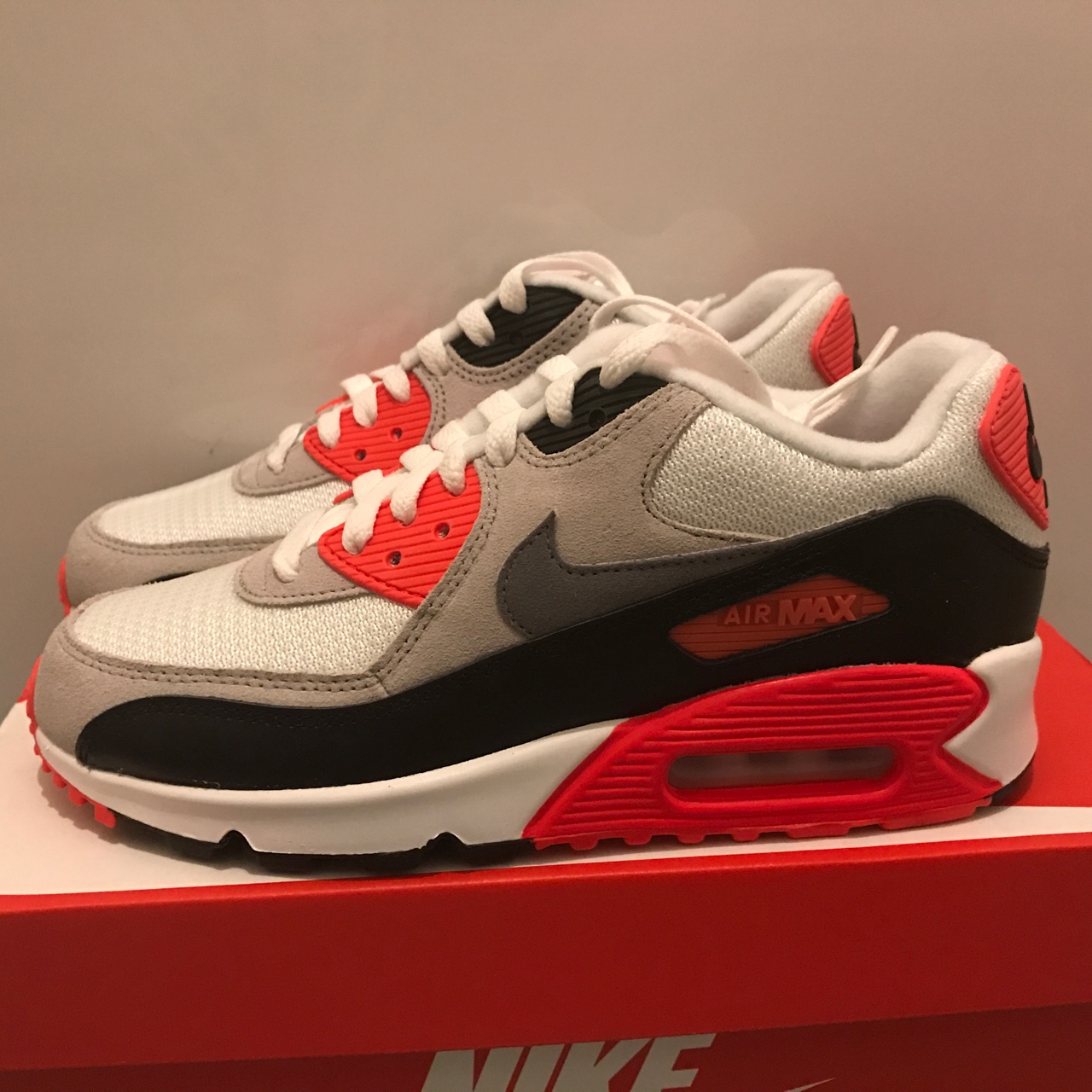 Nike Air Max 90 Infrared GS UK 4.5. Brand new DS Depop