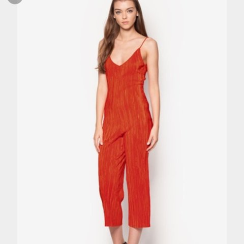b1b6c762d3df Topshop red pleated slouch jumpsuit, size 8. Purchased this - Depop