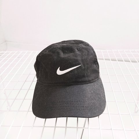 95e18f3460c3d Nike baseball cap. Black. Size 4 7. Great condition! Velcro - Depop