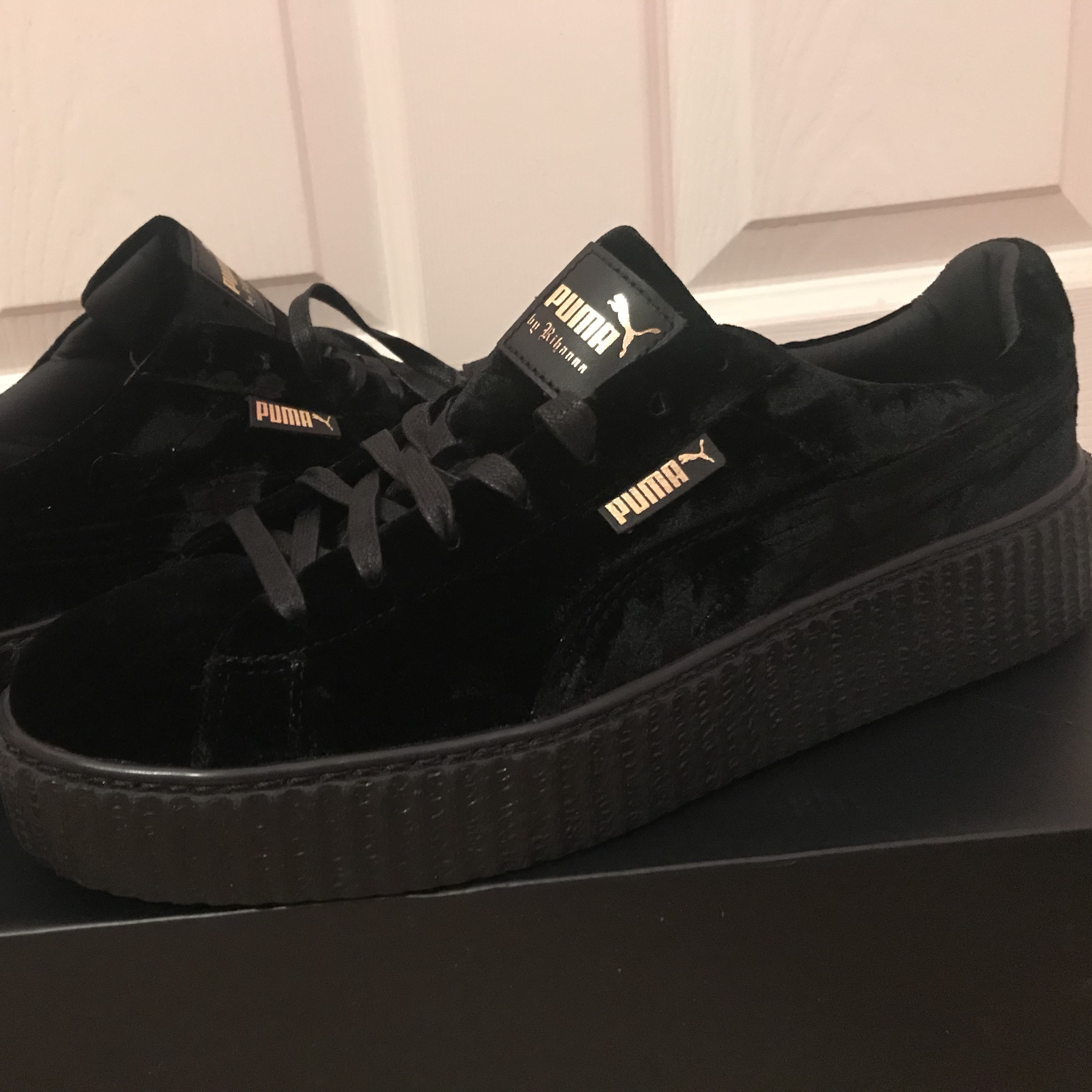 the latest 0acb9 1bf30 Fenty Puma Creepers Black Suede Men's UK 11 BRAND ...