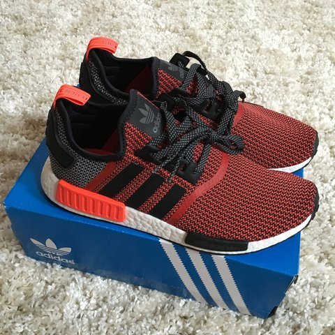 bec78a9b52339 Adidas NMD r1 red size men s US10.5. Comes with original in - Depop