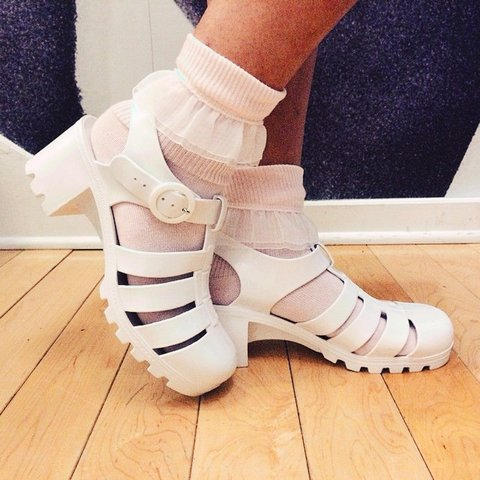 38db37ccfc brand new american apparel jelly shoes very comfortable to - Depop