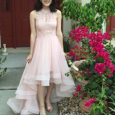Baby Pink Prom Dress From Macys Only Wore It On Prom Depop