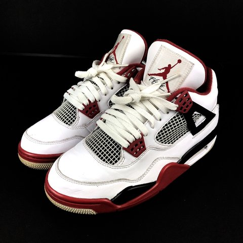 e59605eabb9cf6 Nike Air Jordan 4 Retro - Fire Red - UK6.5 EU40.5 - 8 10 - - Depop