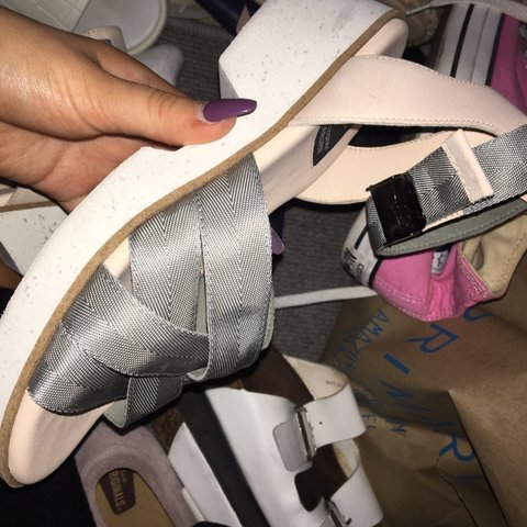 3ebf7dab92d Clarks x Christopher Raeburn collab sandals Never worn Sage - Depop