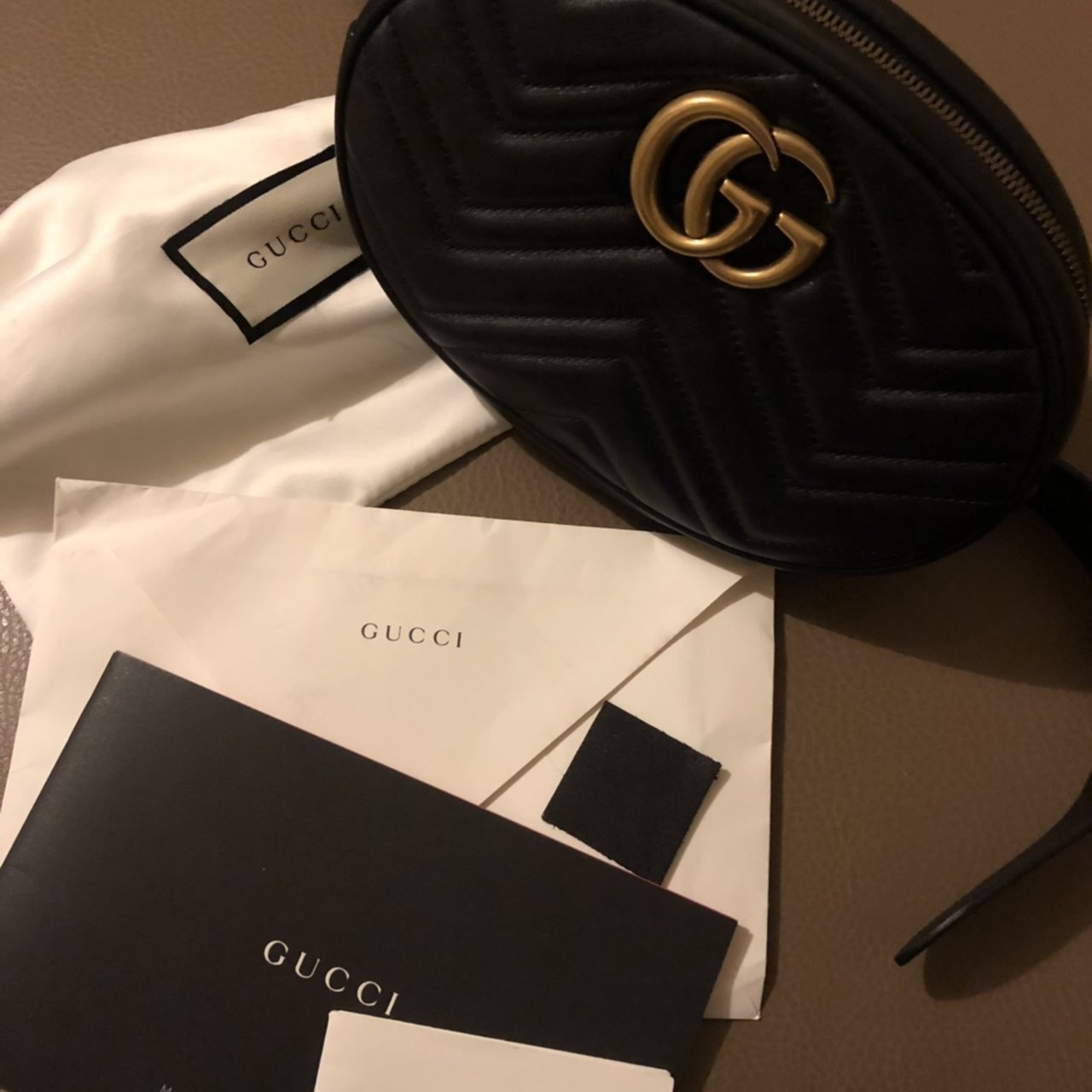 9621bca535d9 @eliona_diora2. 20 days ago. London, United Kingdom. GUCCI BELT BAG BOUGHT  A COUPLE MONTHS AGO WORN ONCE IN PERFECT CONDITION LIKE ...