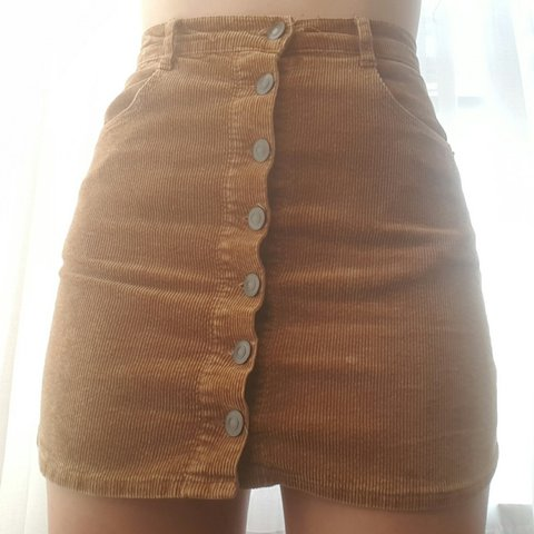 b34e475fba Brandy Melville button up corduroy mini skirt. Used to be my - Depop